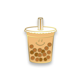 Boba Pin (Milk Tea) by Hello Sushi Store