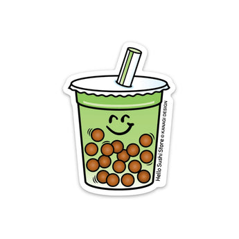 Matcha Boba Sticker by Hello Sushi Store