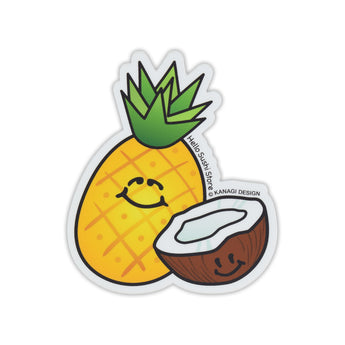Coconut and Pineapple Sticker by Hello Sushi Store