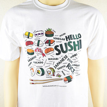 Sushi Words T-Shirt - Hello Sushi Store