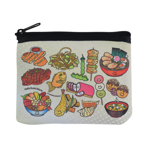 Japanese Zip Pouch (Small) - Hello Sushi Store