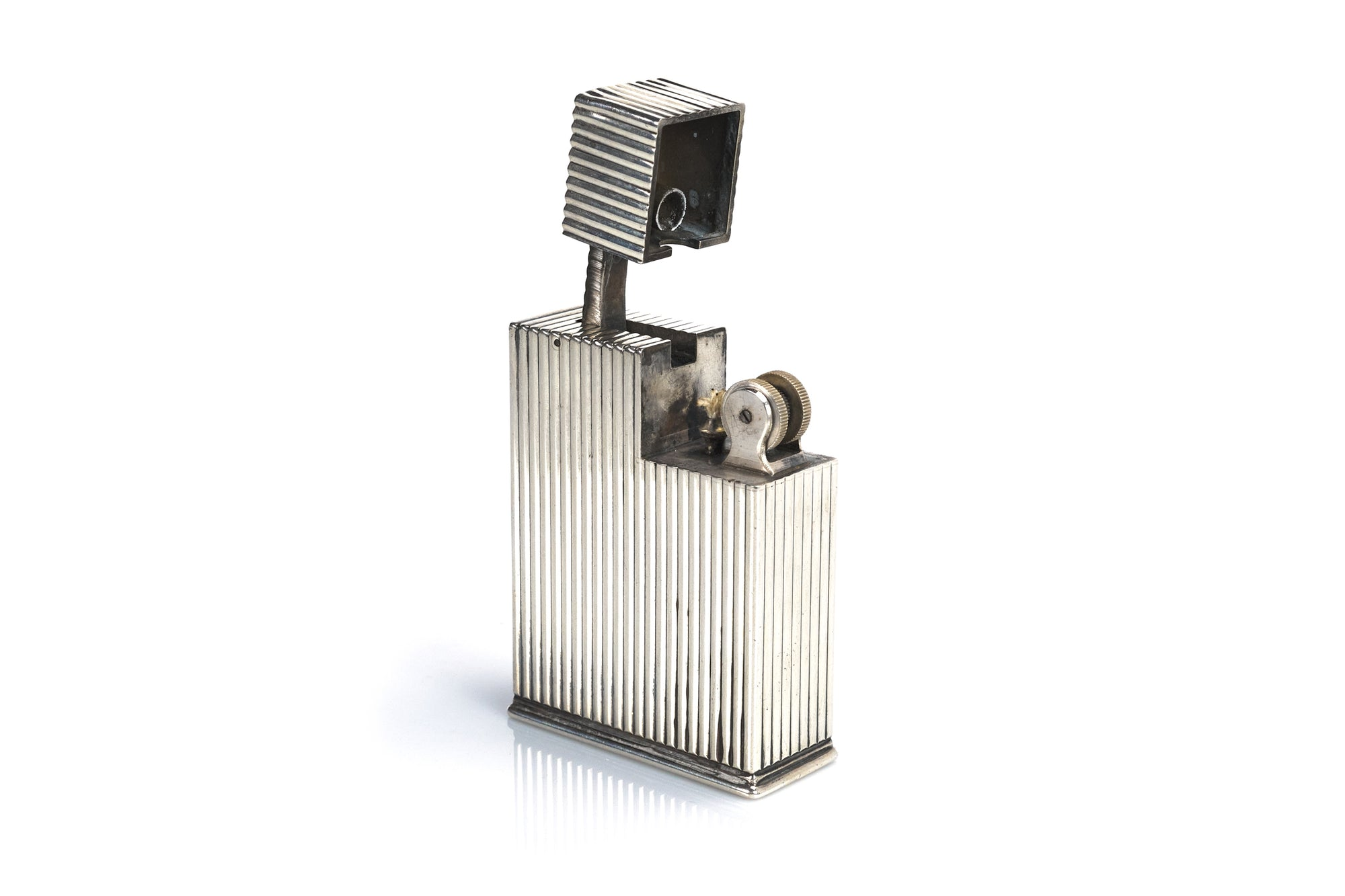 Large Cartier Sterling Table Lighter, 1930s