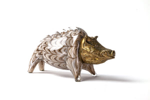 Murano Glass Boar Sculpture