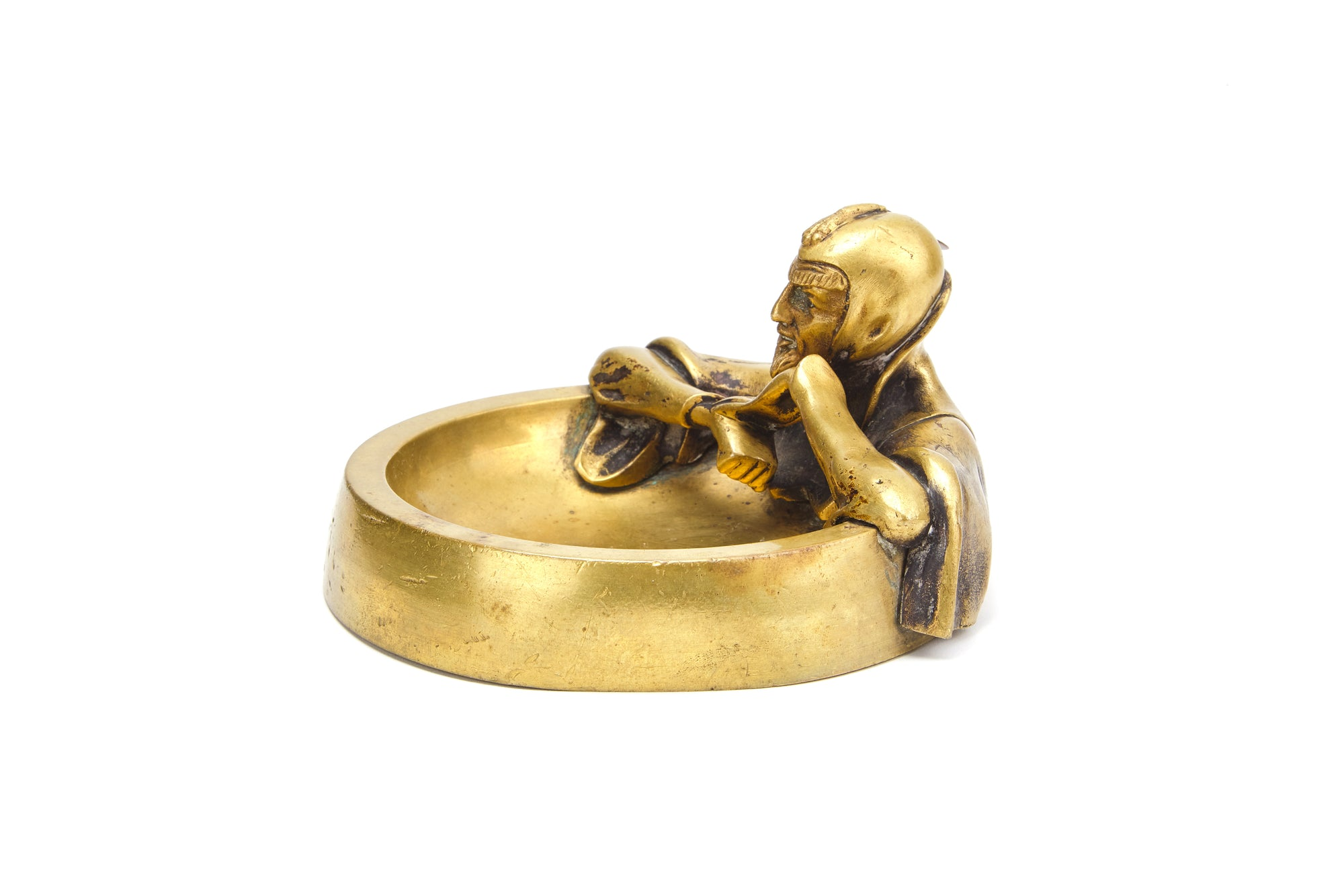 Austrian Brass Ashtray with Mephistopheles