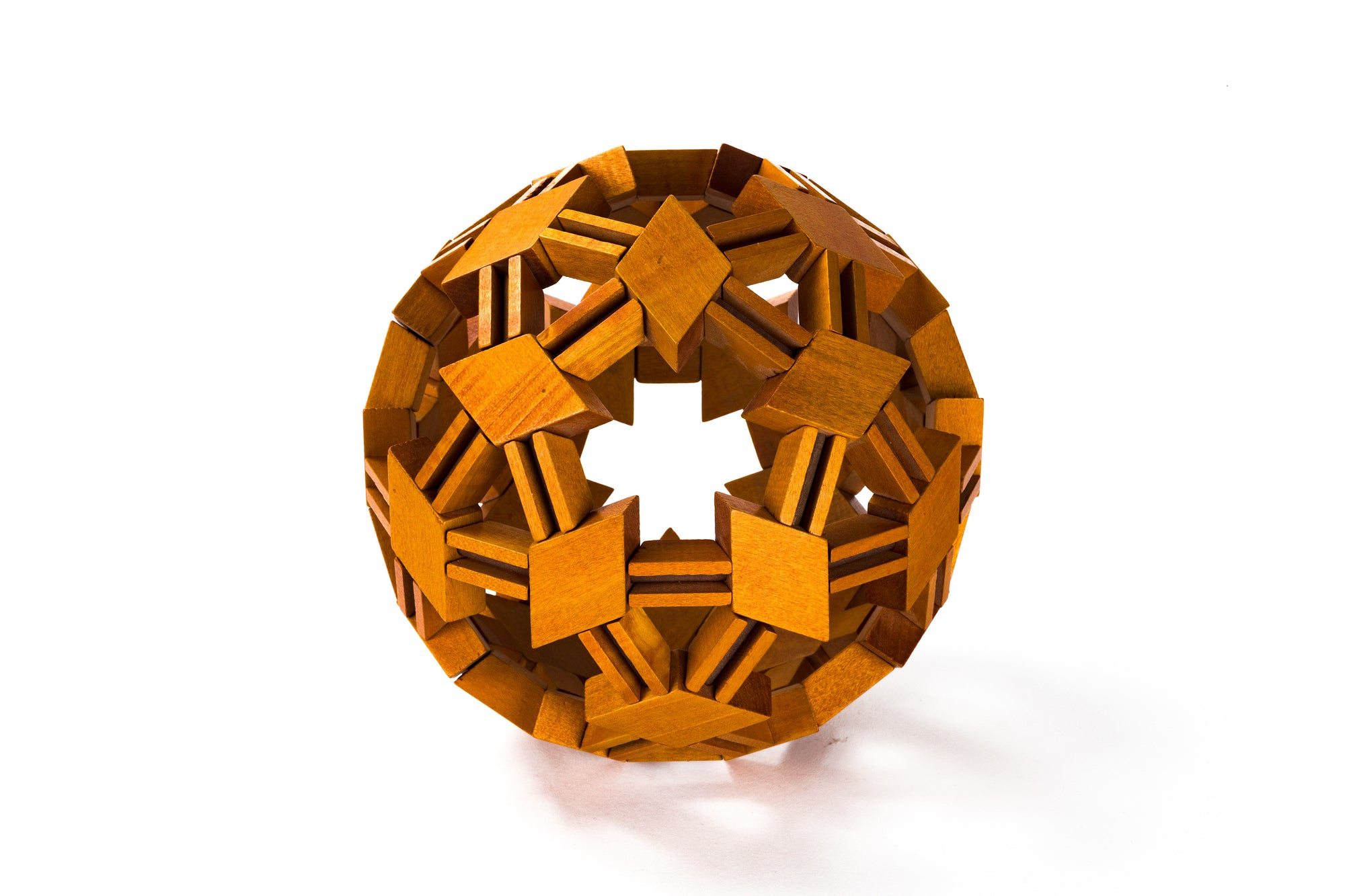 French Wooden Puzzle Sculpture