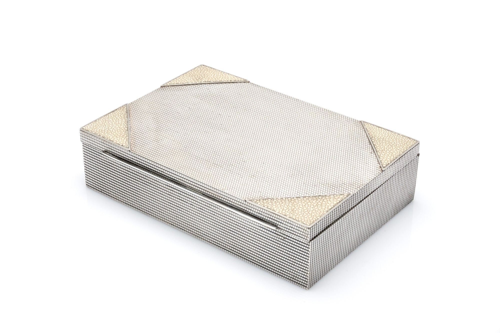 Sterling Silver & Shagreen Box