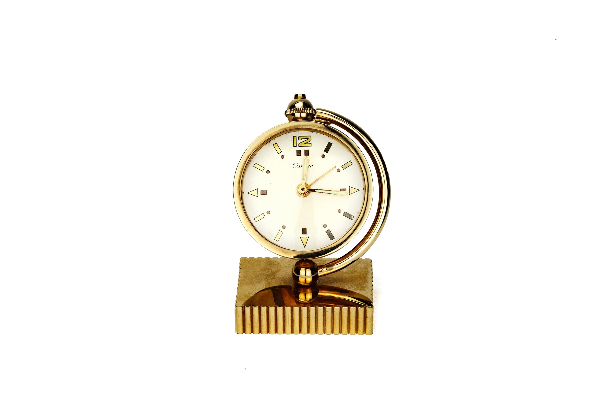 Cartier 18ct Gold Desk Clock