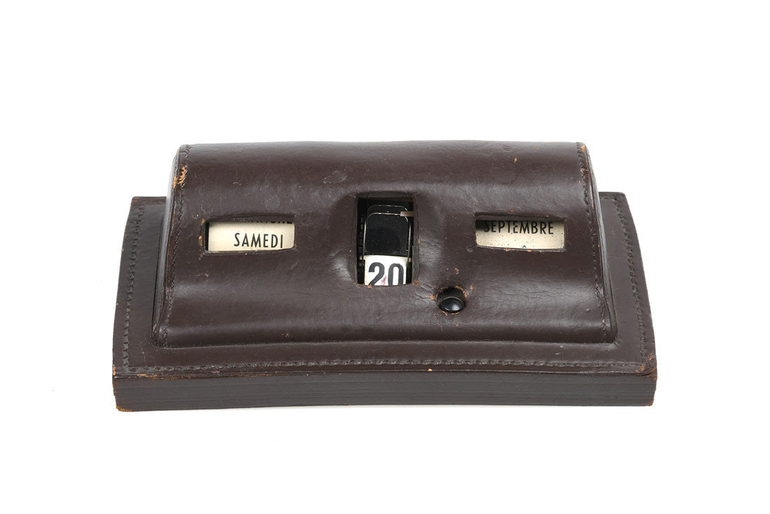 Hermes Leather Desk Calendar