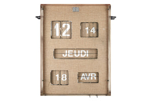 French Digital Wall Clock & Calendar
