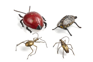 Group of various hand-made bugs