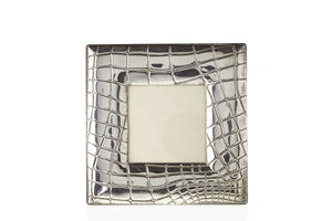 Sterling Silver Alligator Picture Frames, a pair