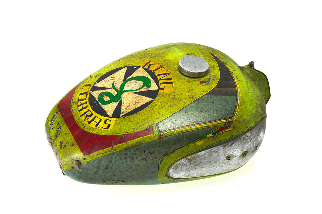 Folk Art Painted Gas Tank