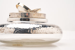 Sterling Silver & Crystal Ashtray