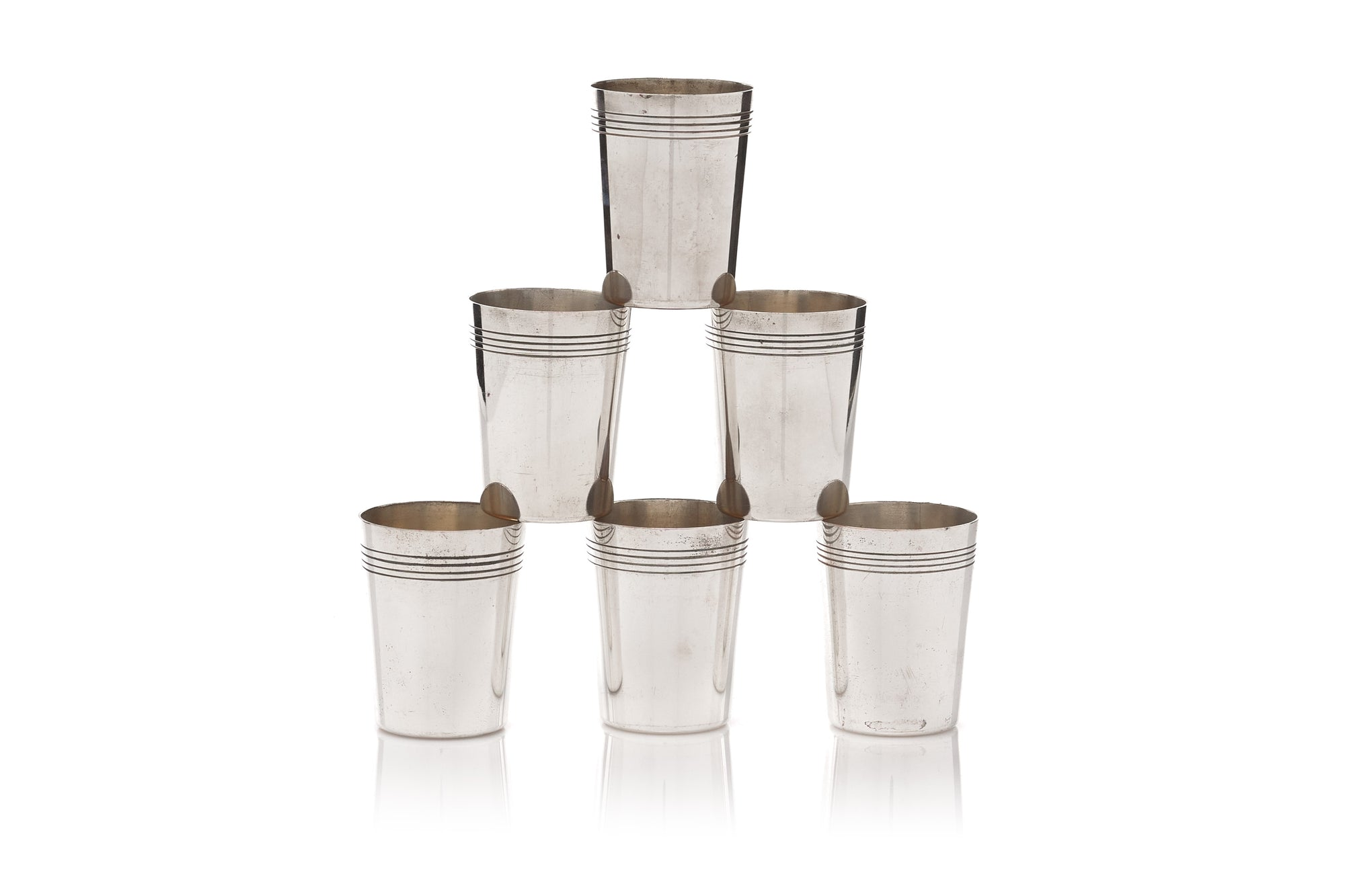 English Shot Glasses, Set of 6