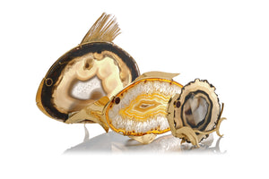 Agate Fish Sculptures, Set of 3