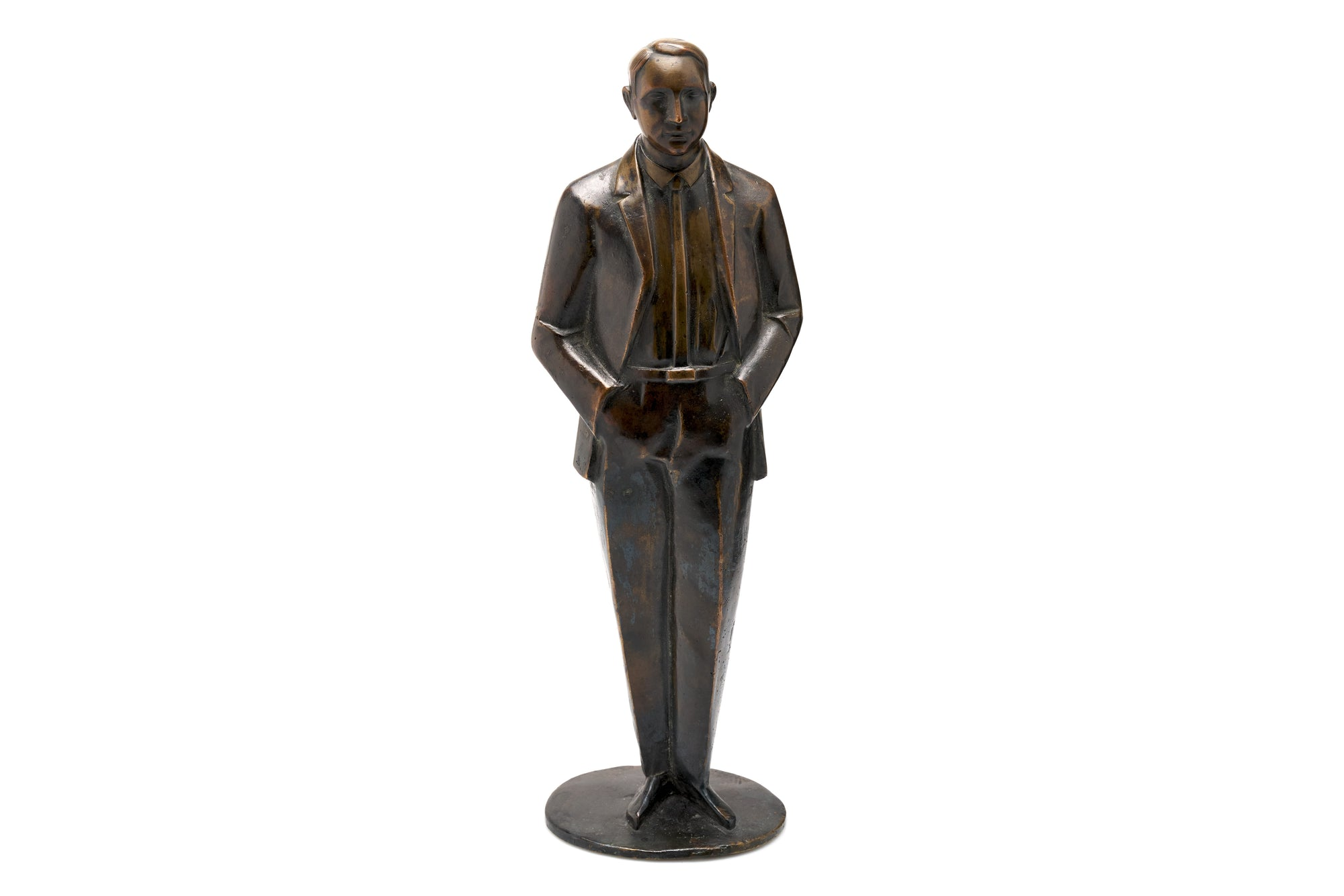 Bronze of Well-Dressed Man