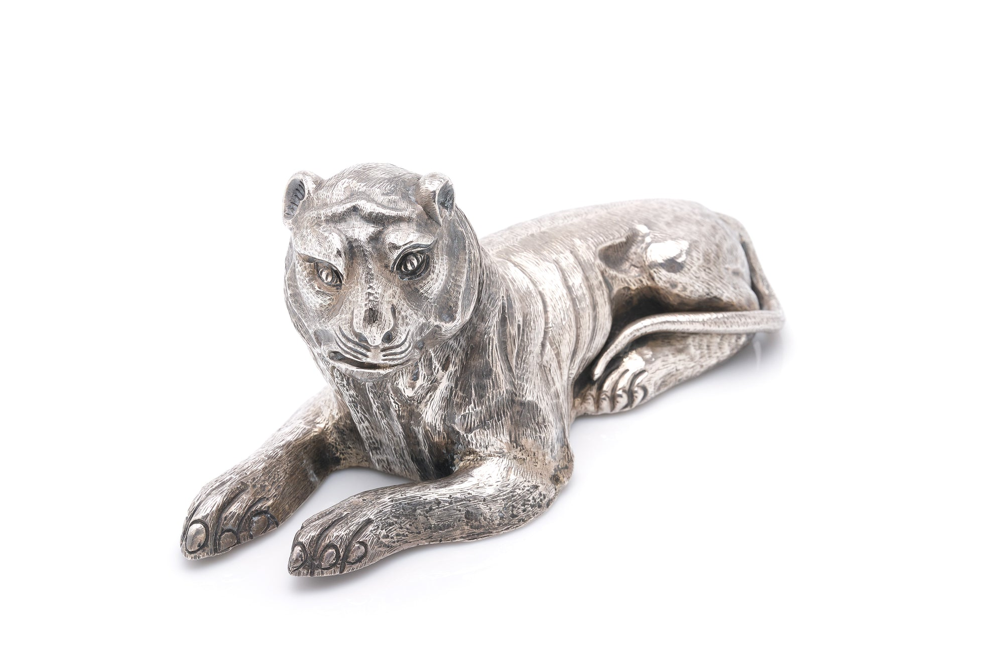 Sterling Silver Lion Sculpture