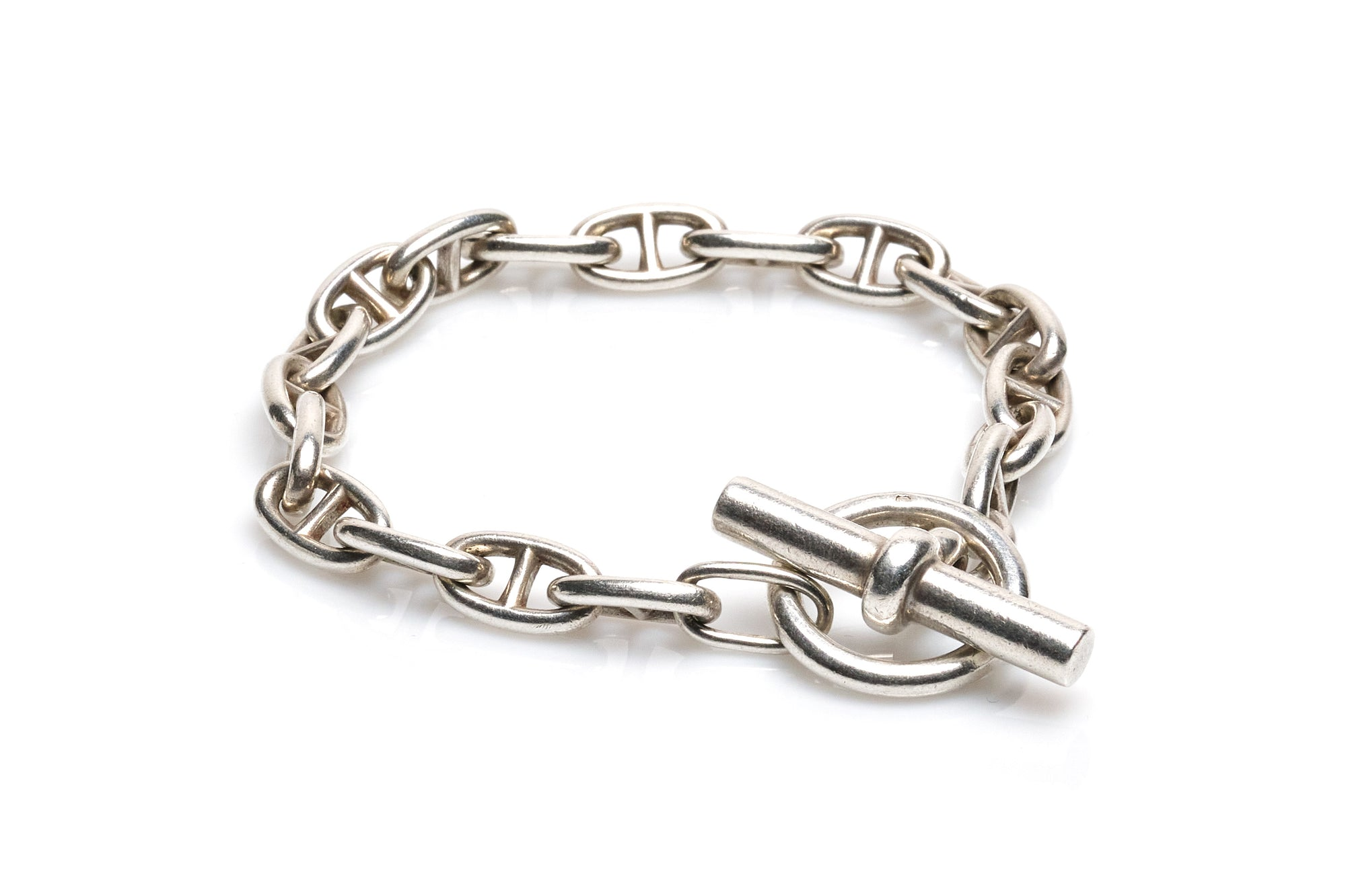 Hermes Sterling Silver Chain D'Ancre Bracelet
