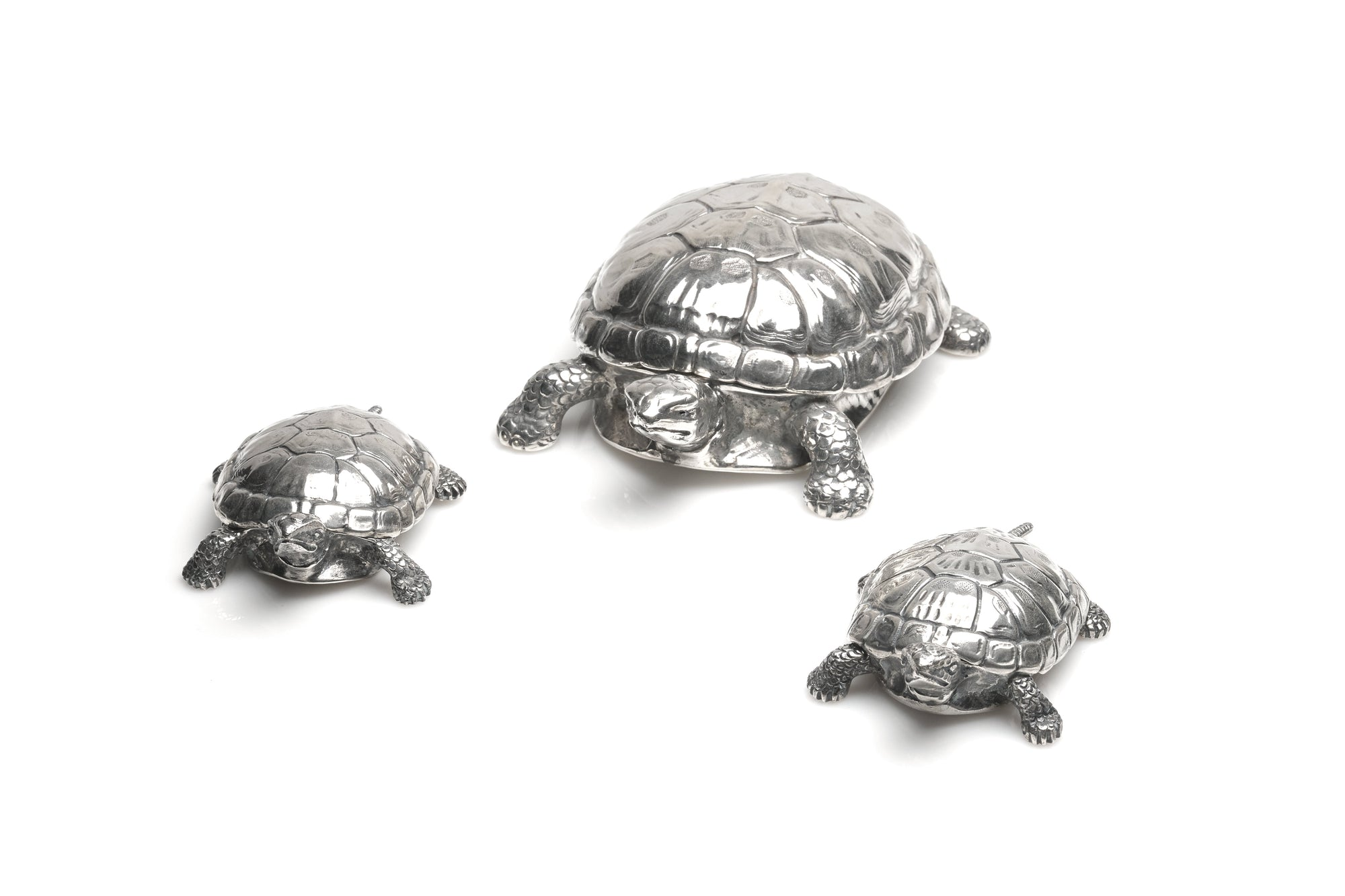 Tiffany & Co. Sterling Silver Turtle Boxes