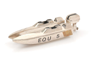 Sterling Silver Speedboat Sculpture