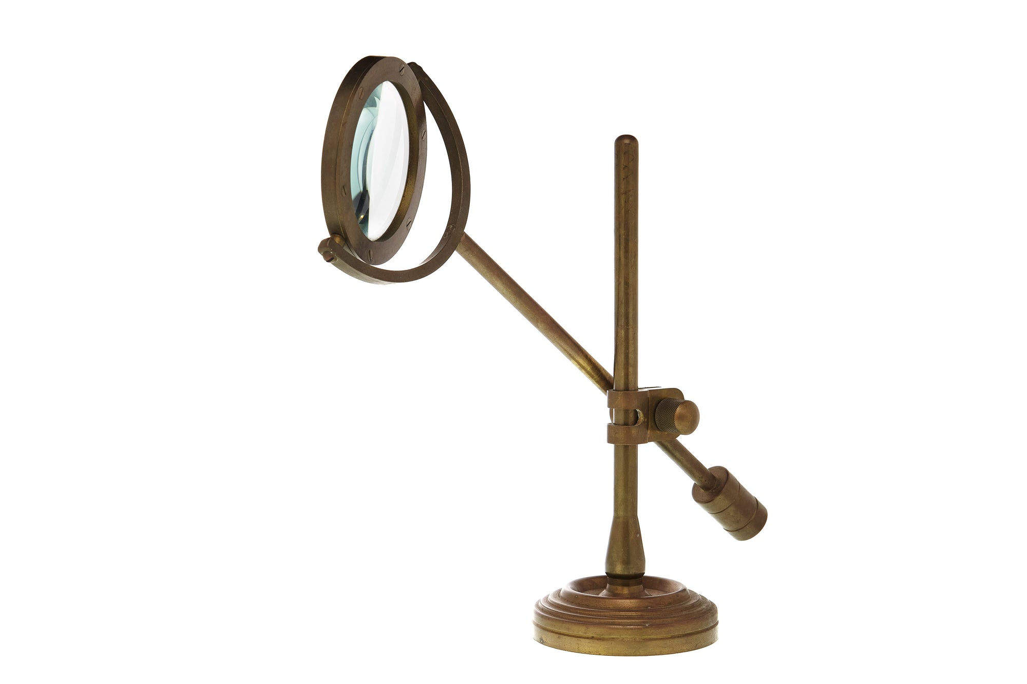 Brass Table Magnifier