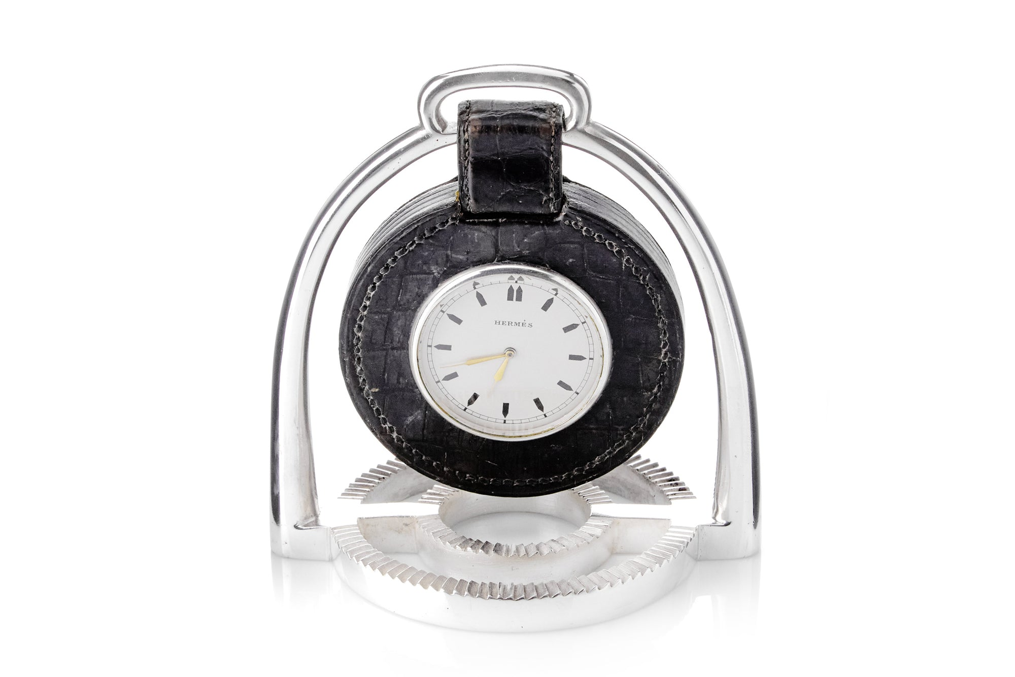 Hermes Alligator Table Clock