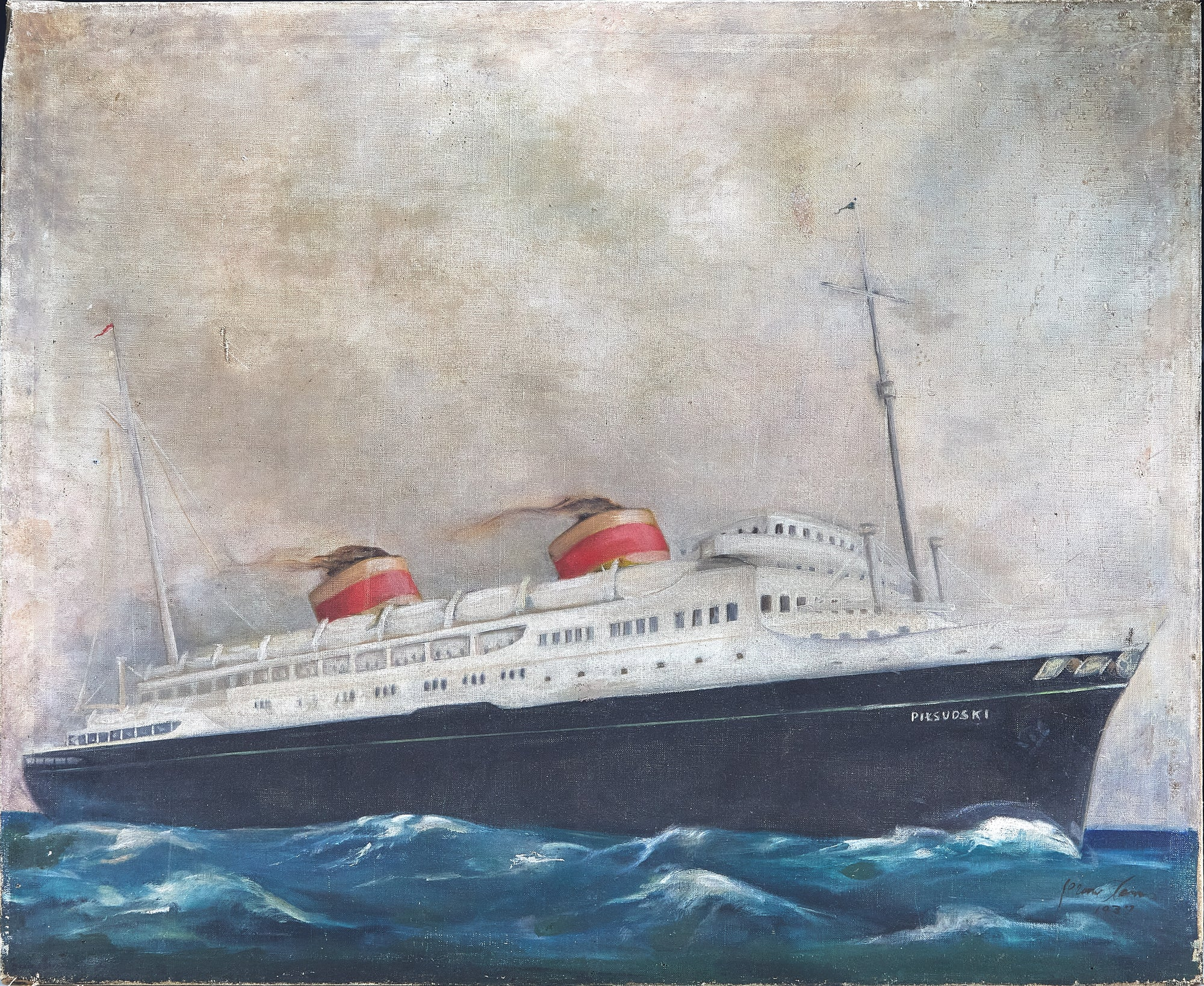 Large Steamboat Painting