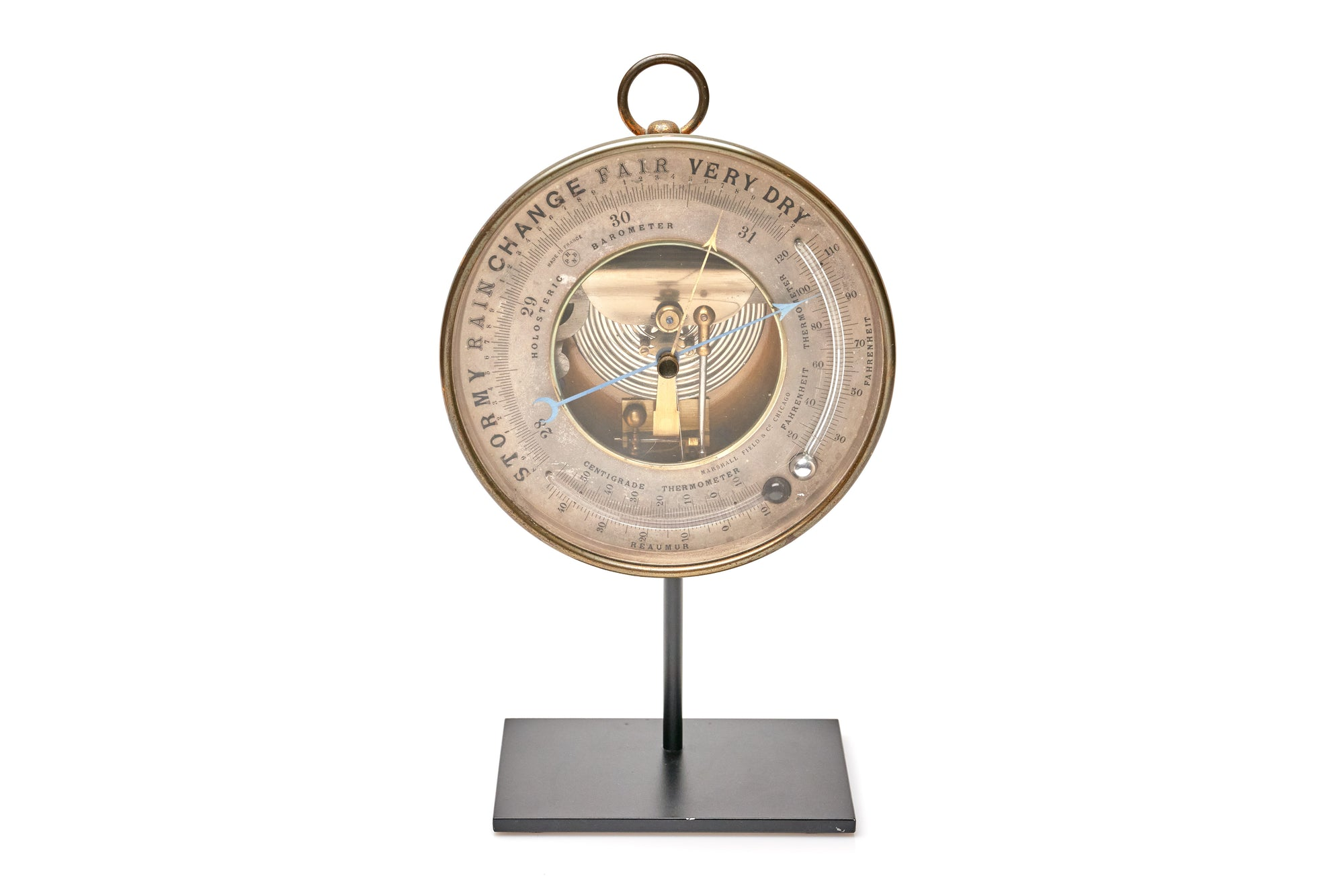 French Barometer on Stand