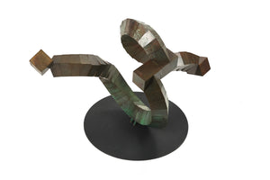 Large Segmented Bronze Cube Sculpture