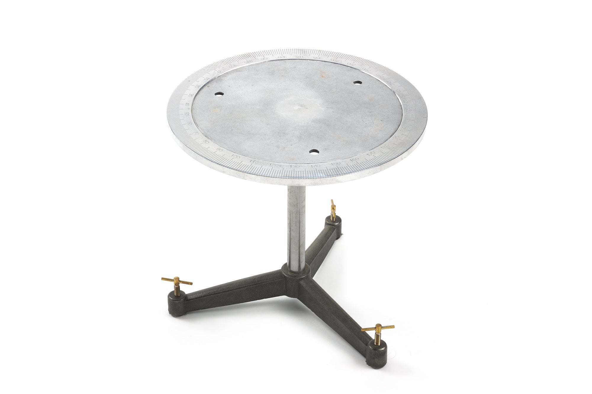 Industrial Side Table with Degree Markers