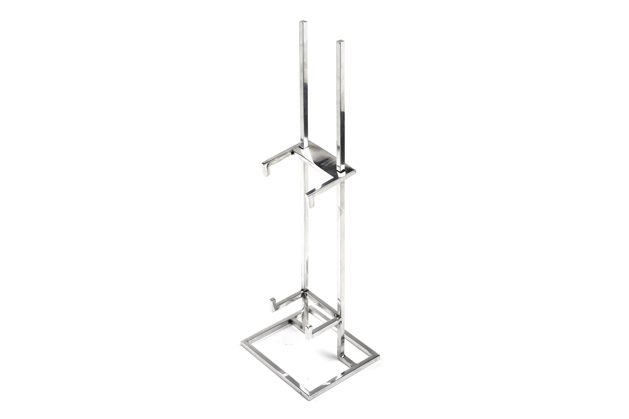 Polished Aluminum Sliding Table Easel
