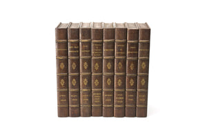 Hand-Carved French Faux Books, Set of 8
