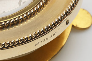 Cartier Gold Table Clock