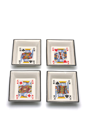 Christian Dior Playing Card Trays, Set of 4