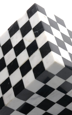 Marble Checkerboard Sculpture