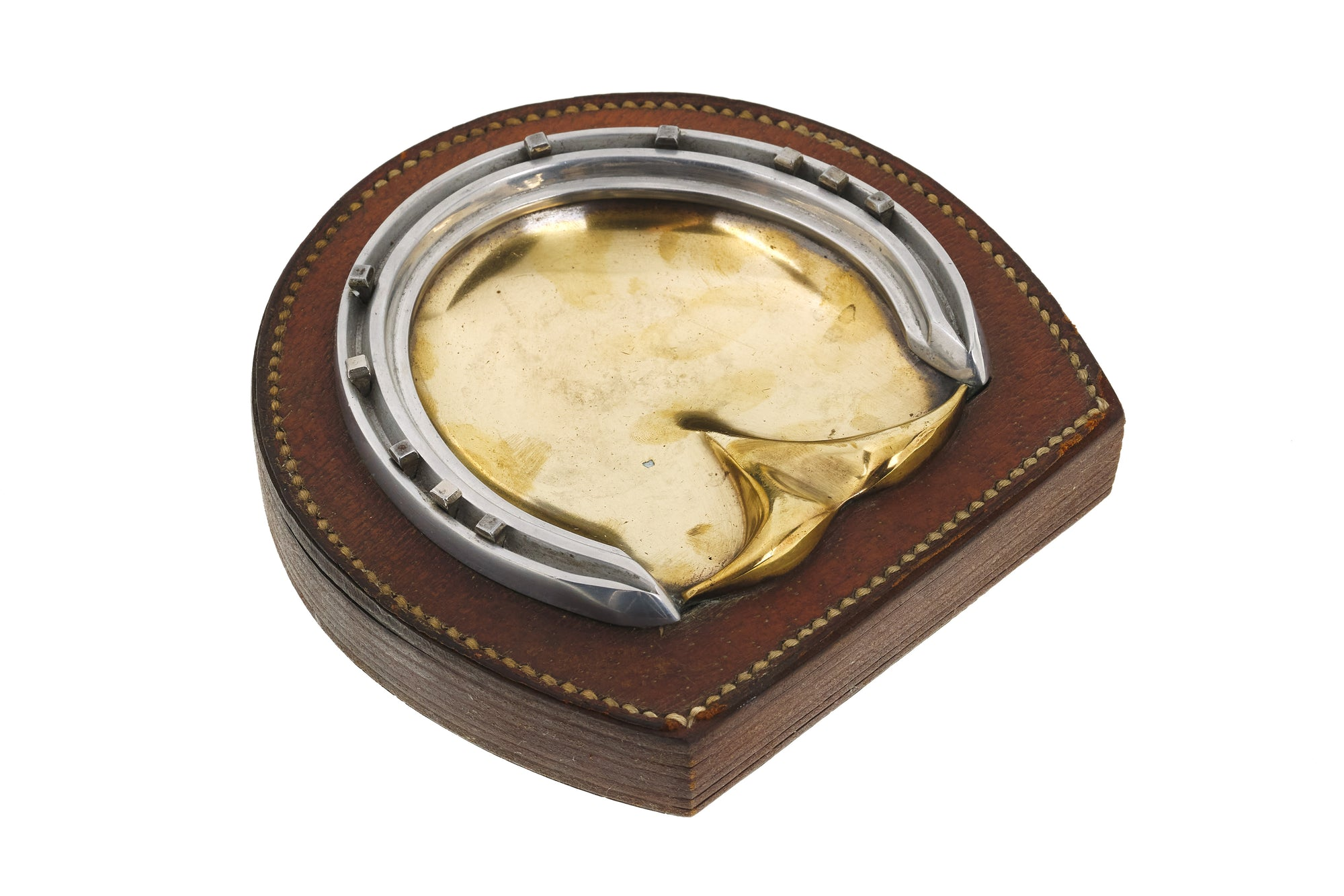 Hermes Leather Ashtray by Paul Dupre-Lafon