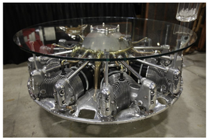 Incredible Seven Cylinder Jacobs Aircraft Engine Coffee Table