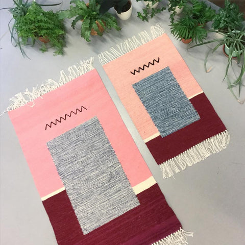 I love the playful use of color and line from Polish weavers Wiktoria Podolec and Jadzia Lenart  ~ @tartaruga.studio