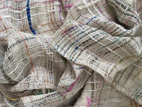 "This piece is aptly captioned ""a cloud of cottolin and recycled silks."" I want to dive into the cloud!  ~ @goldfinchwoven"