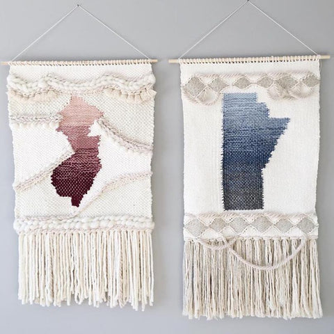 Beautiful pair of tapestries by Rebecca Riel ~ @rielfinishings