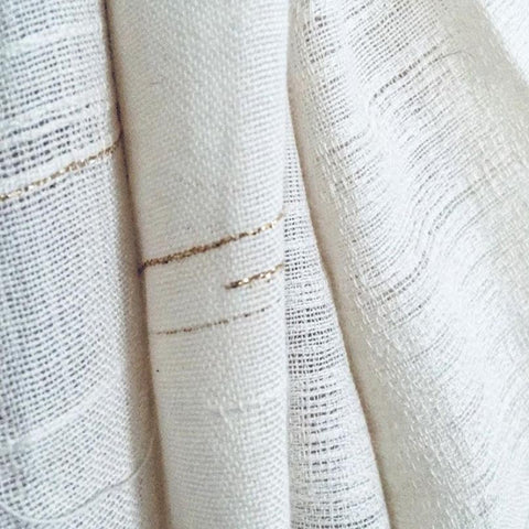 I love Rebecca Daryl's use of gold and subtle texture in this fabric  ~ @rebeccadarylart