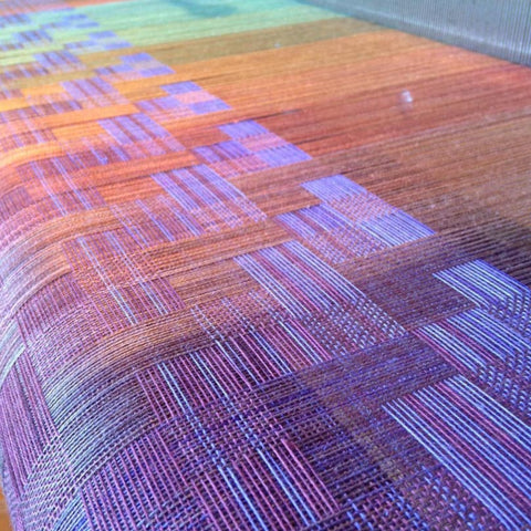 Electric colors! ~ @silkweavingstudio