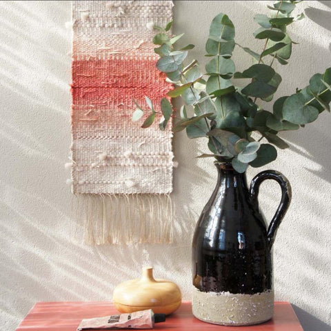 I love Kathrin's subtle color and texture in this wall hanging ~ @wednesdayweaving
