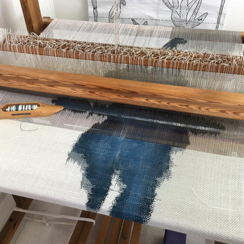 I'm loving watching this ink blot series by Andrea Donnelly develop ~ see this and so much more creativity in weaving at @adonnellystudio