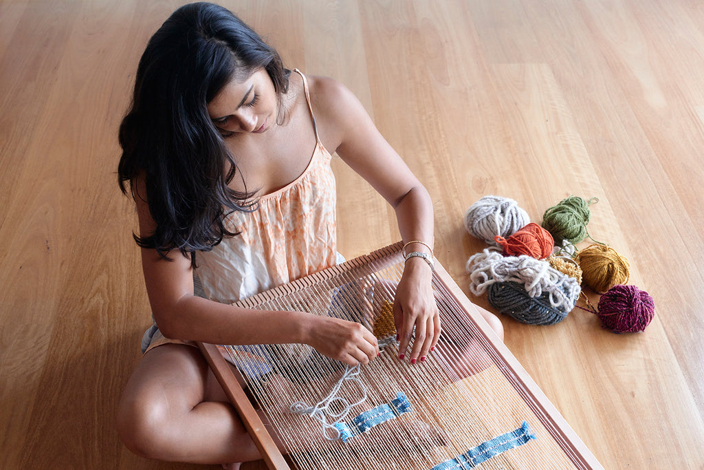 Nikita Sheth weaving