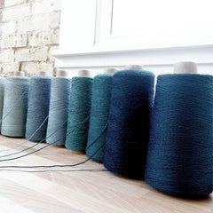 blue weaving yarn