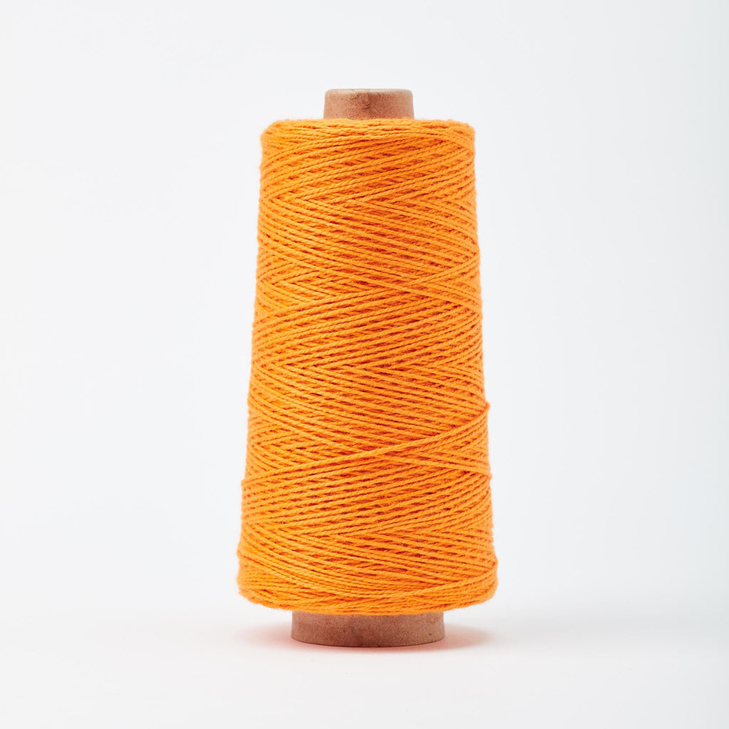 Beam 3/2 Organic Cotton Weaving Yarn ~ Tangerine