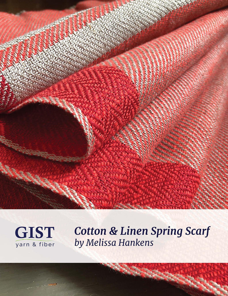 Cotton and Linen Spring Scarf Kit ~ Poppy