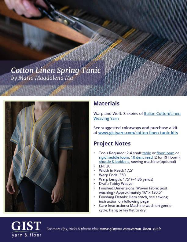 Cotton & Linen Spring Tunic Kit ~ Warbler