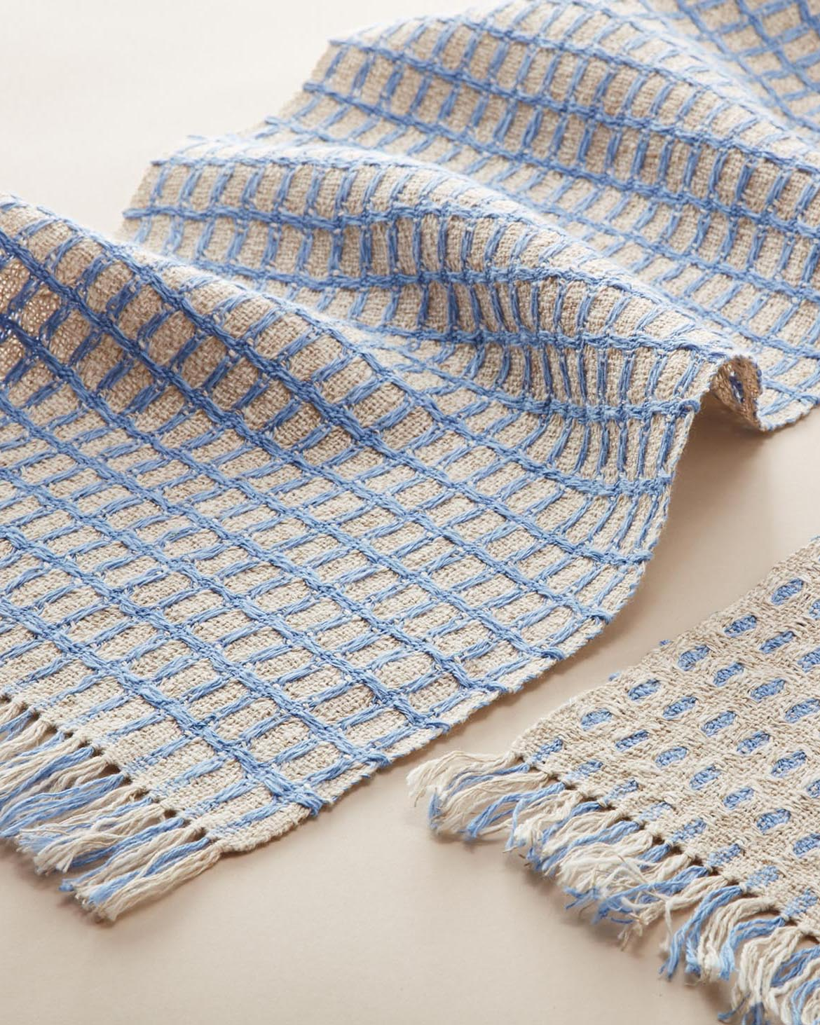Deflected Doubleweave Scarf Weaving Pattern
